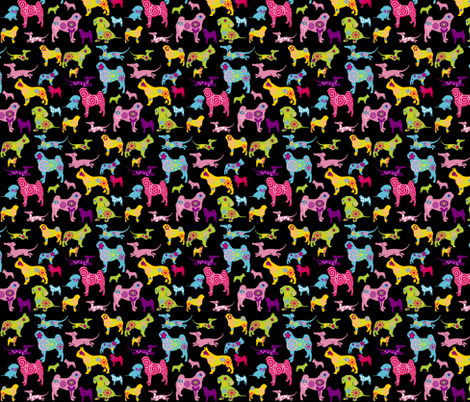 dog fabric fabric by lil_creatures on Spoonflower - custom fabric