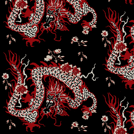 Dragon #3 fabric by paragonstudios on Spoonflower - custom fabric