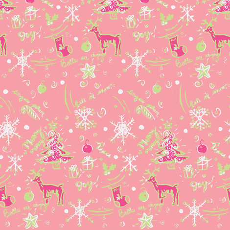 Rudolph's Rosie Wonderland fabric by fabricfarmer_by_jill_bull on Spoonflower - custom fabric