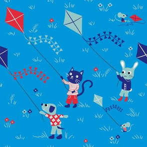 Kite friends Blue