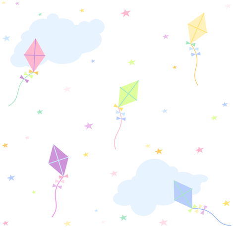 Stars, Clouds, Kites & Daydreams! - Rainbow Pastels - © PinkSodaPop 4ComputerHeaven.com fabric by pinksodapop on Spoonflower - custom fabric