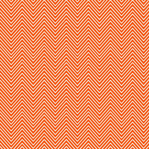 Orange chevron delicate