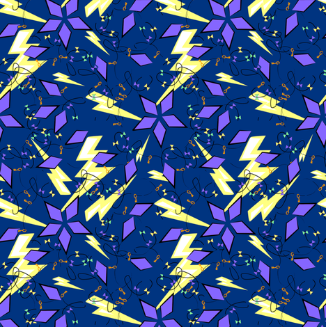 Ben Franklin's Kite fabric by eclectic_house on Spoonflower - custom fabric