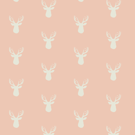 Fawn Blush ©2015 Jill Bull fabric by palmrowprints on Spoonflower - custom fabric