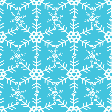 Abominable Snowman fabric by palmrowprints on Spoonflower - custom fabric