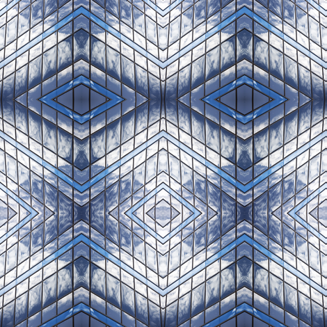 Reflections on Windows fabric by glennis on Spoonflower - custom fabric