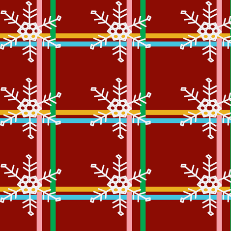 Santa's Plaid Pajama's fabric by palmrowprints on Spoonflower - custom fabric