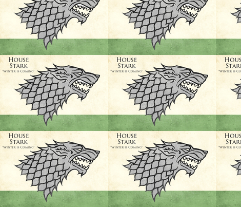 house stark fabric by geekinspirations on Spoonflower - custom fabric