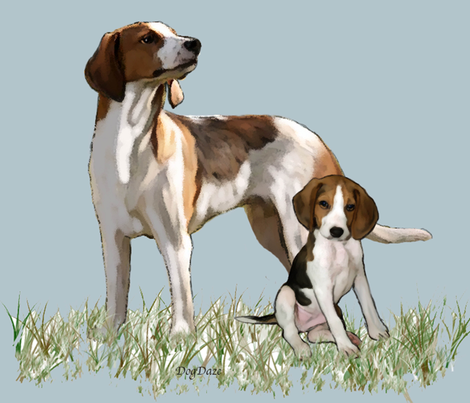 walker_coonhounds_fat_quarter fabric by dogdaze_ on Spoonflower - custom fabric