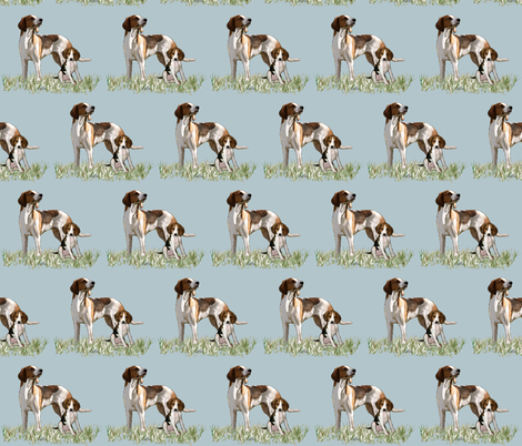 treeing walker coonhounds Mother and puppy fabric by dogdaze_ on Spoonflower - custom fabric