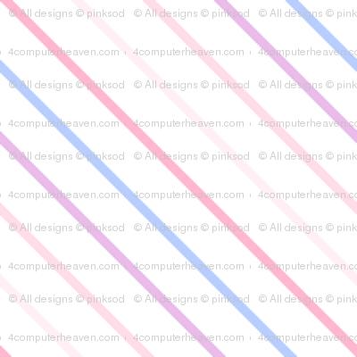 Rainbow Pastel - Mini Stripes -  © PinkSodaPop 4ComputerHeaven.com