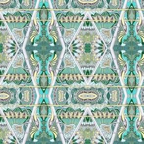 Aqua Zig Zag Victorian Diamonds