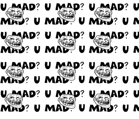 TrollFace1 fabric by namouri on Spoonflower - custom fabric