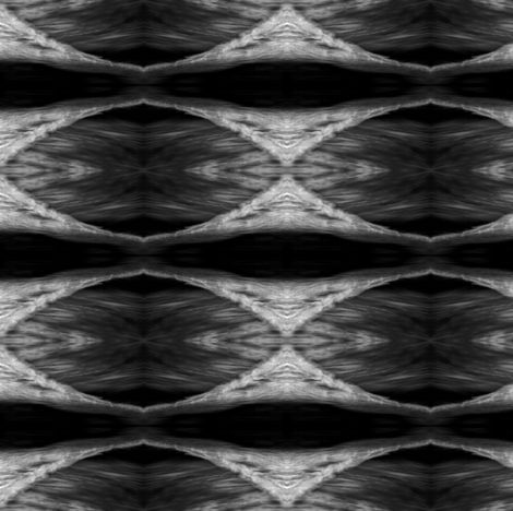OceanAtMidnightbw fabric by glennis on Spoonflower - custom fabric