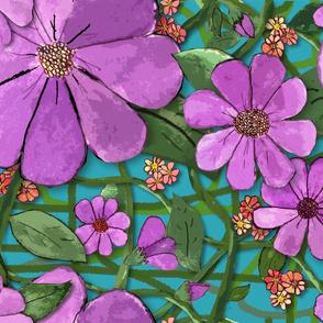 Floral Vines - Purple