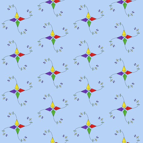 ditzy kites fabric by ingridthecrafty on Spoonflower - custom fabric