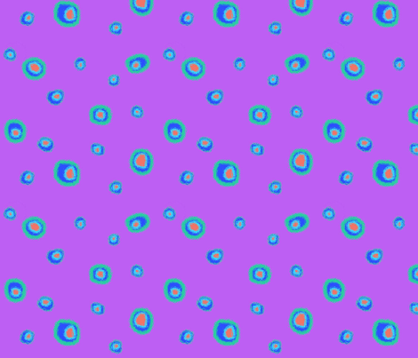 Bright Dots-Purple fabric by mammajamma on Spoonflower - custom fabric