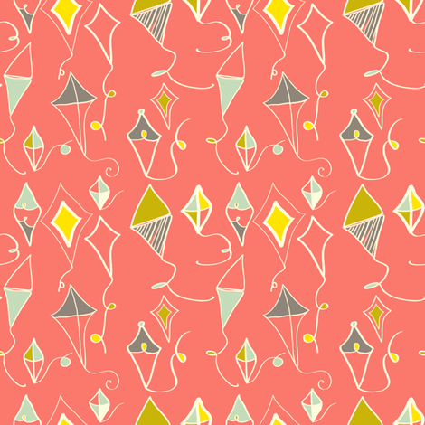 sunset fabric by fable_design on Spoonflower - custom fabric