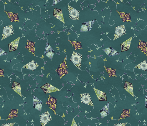 Neuvo Floral Ditsy Kite Print fabric by nicoletamarin on Spoonflower - custom fabric