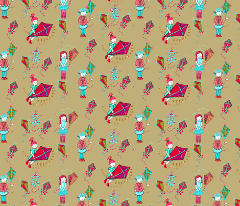 kites1 fabric by aprilaza on Spoonflower - custom fabric