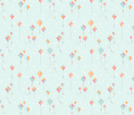 Rainy Day Kites fabric by kate_legge on Spoonflower - custom fabric