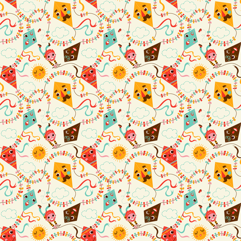 Feeling like a kite fabric by irrimiri on Spoonflower - custom fabric