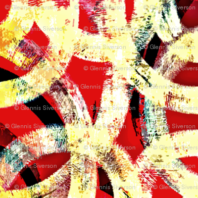 red and gold abstract links