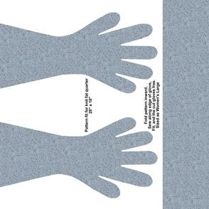 Blue-Gray Speckled Gloves