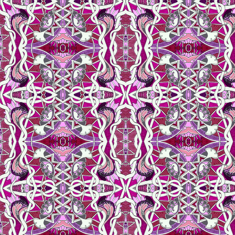 Tangled Poppy Twister (magenta/lavender) fabric by edsel2084 on Spoonflower - custom fabric