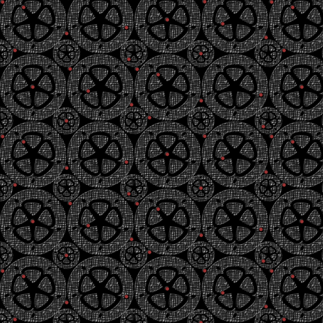 wheel 7 Tweed fabric by glimmericks on Spoonflower - custom fabric