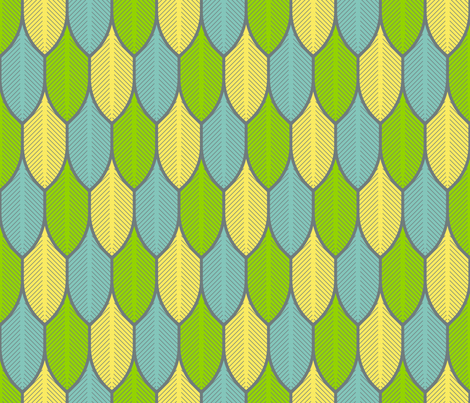 feather 1x3 fabric by sef on Spoonflower - custom fabric