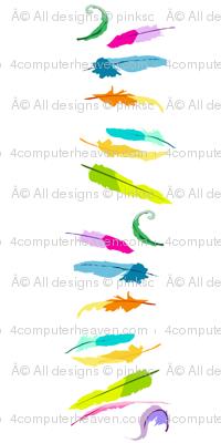 Rainbow Pastel - Feathers Stripes -  © PinkSodaPop 4ComputerHeaven.com