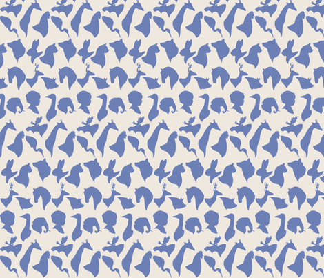 MINI_SILHOUETTES_BLUE fabric by natasha_k_ on Spoonflower - custom fabric