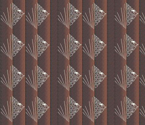 Pointers to a burnt country by Su_G fabric by su_g on Spoonflower - custom fabric
