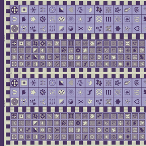 Symbol Scarf Pattern - purple