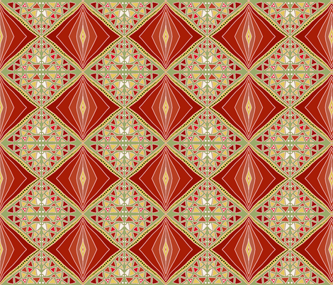 Russet shade diamonds fabric by su_g on Spoonflower - custom fabric