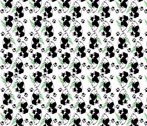 Panda fun fabric by glanoramay on Spoonflower - custom fabric