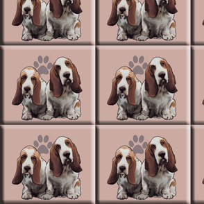 basset_hound_tiles dog fabric