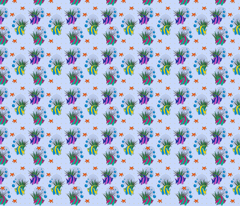 Sea Stars fabric by glanoramay on Spoonflower - custom fabric
