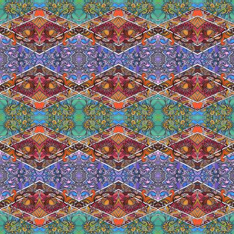 Four Seasons Argyle Garden fabric by edsel2084 on Spoonflower - custom fabric
