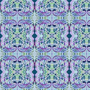 Lavender and Green Tangles