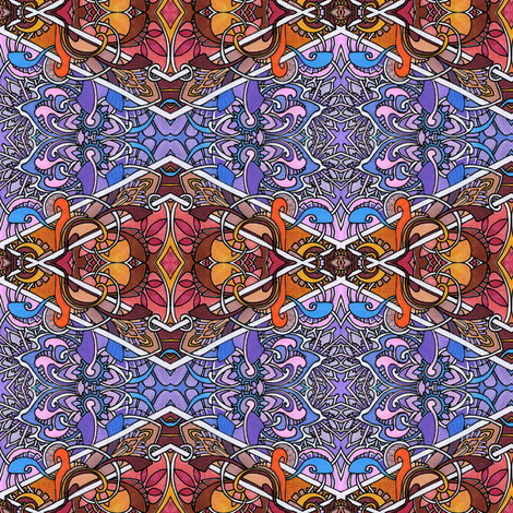Retro Psychedelic Argyle fabric by edsel2084 on Spoonflower - custom fabric