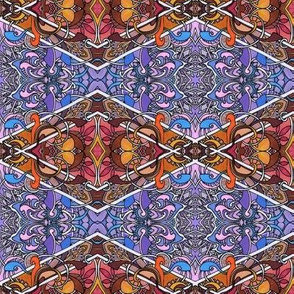 Retro Psychedelic Argyle