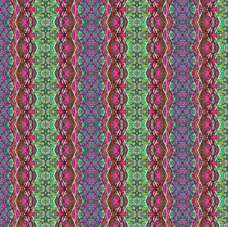 Revenge of the Giant Pinking Shears (zig zag vertical stripe) fabric by edsel2084 on Spoonflower - custom fabric
