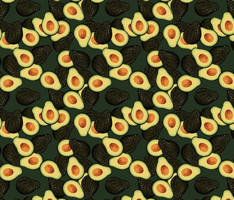 Avocados fabric by marlene_pixley on Spoonflower - custom fabric