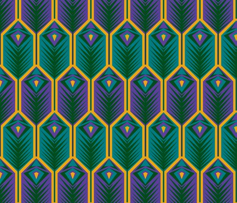 1970s Peacock fabric by phantomssiren on Spoonflower - custom fabric