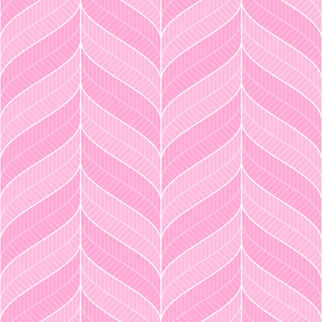 tickled pink - feather border fabric by sef on Spoonflower - custom fabric
