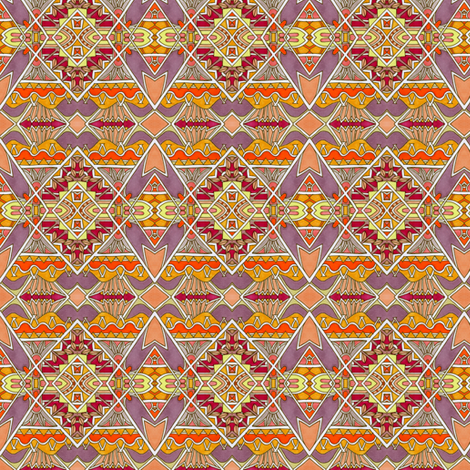 Happy Times on the Aztec Steps fabric by edsel2084 on Spoonflower - custom fabric