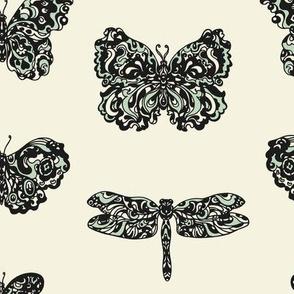Art Nouveau Butterflies Paper