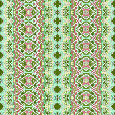 Saint Patrick's Day vertical granny stripe fabric by edsel2084 on Spoonflower - custom fabric